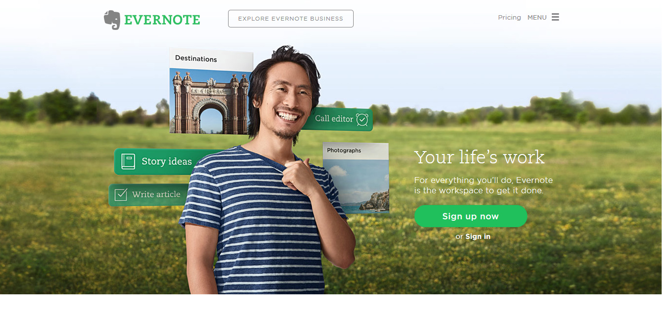 Evernotepage